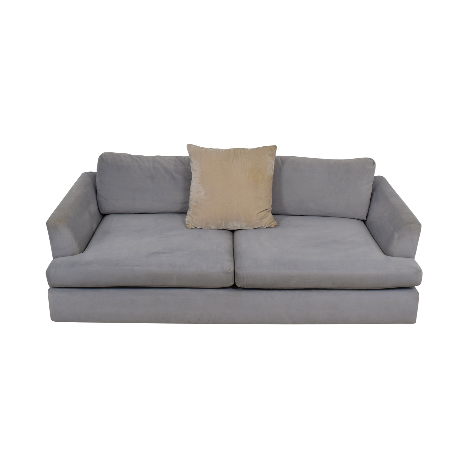 ABC Carpet & Home Cobble Hill Light Blue Two-Cushion Sofa ABC Carpet & Home