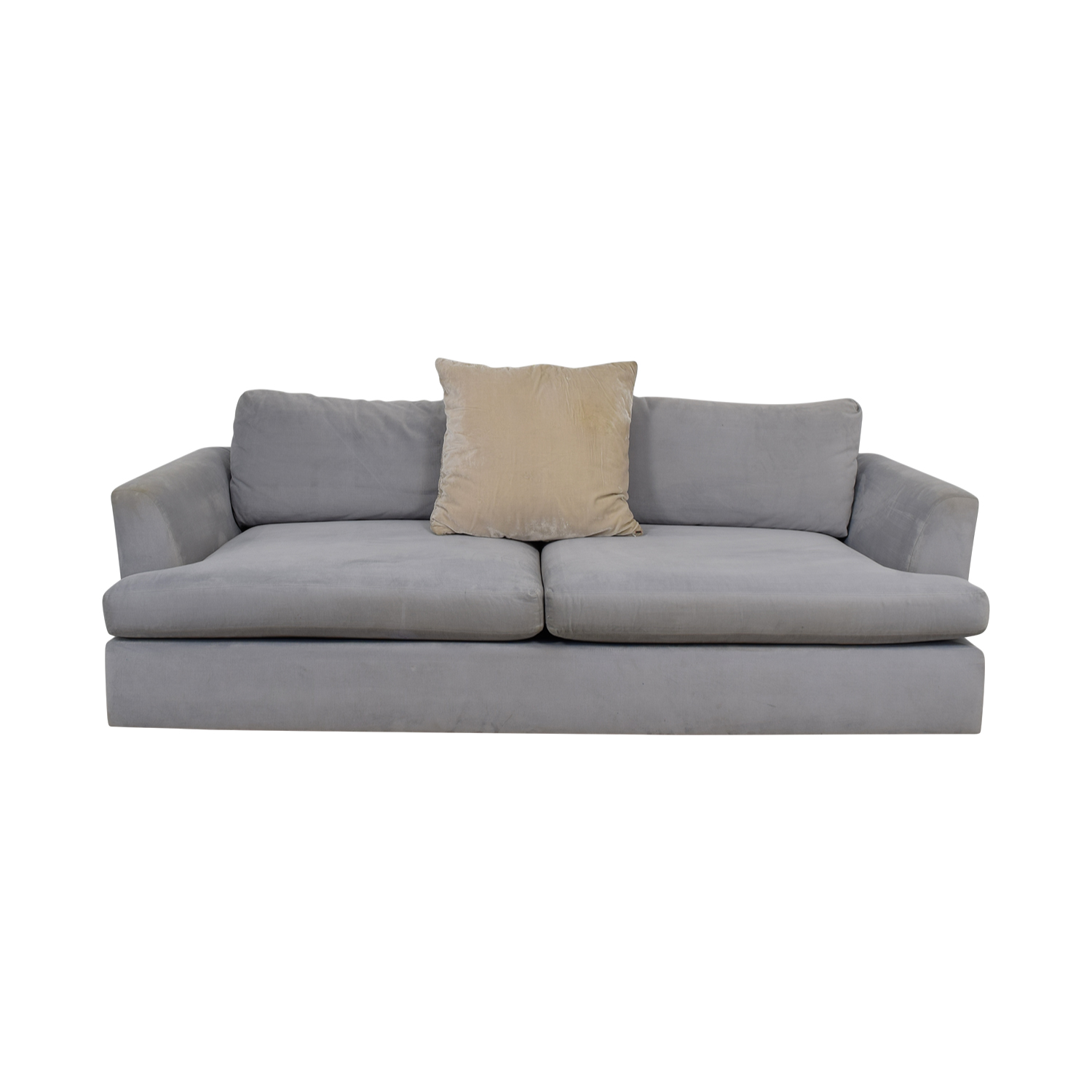 ABC Carpet & Home ABC Carpet & Home Cobble Hill Light Blue Two-Cushion Sofa Sofas