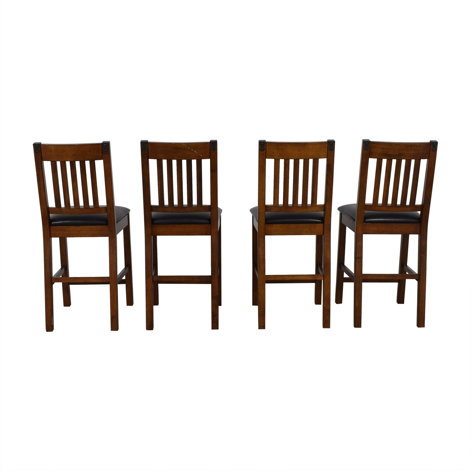 Wood and Black Dining Chairs dimensions