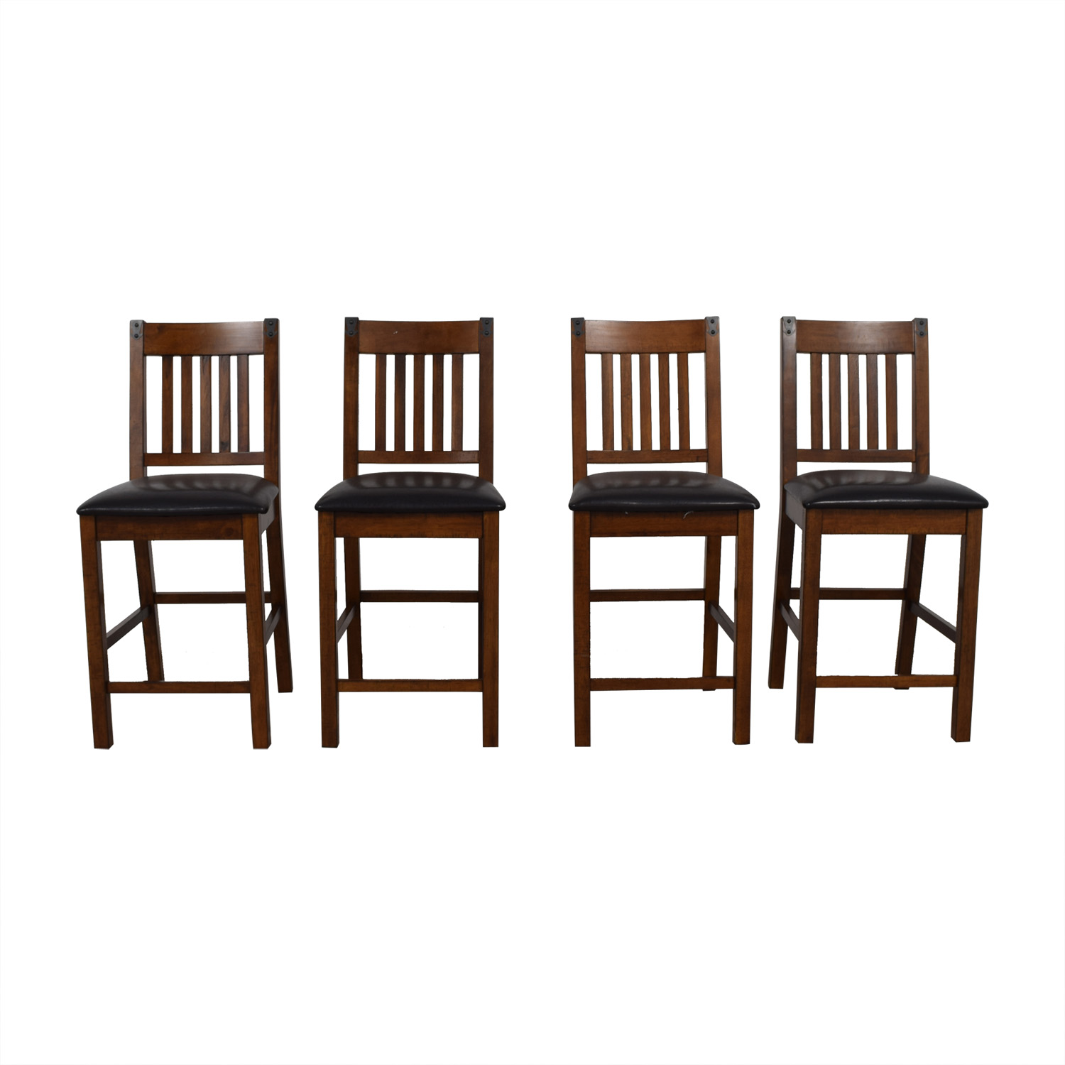 Wood and Black Dining Chairs / Dining Chairs