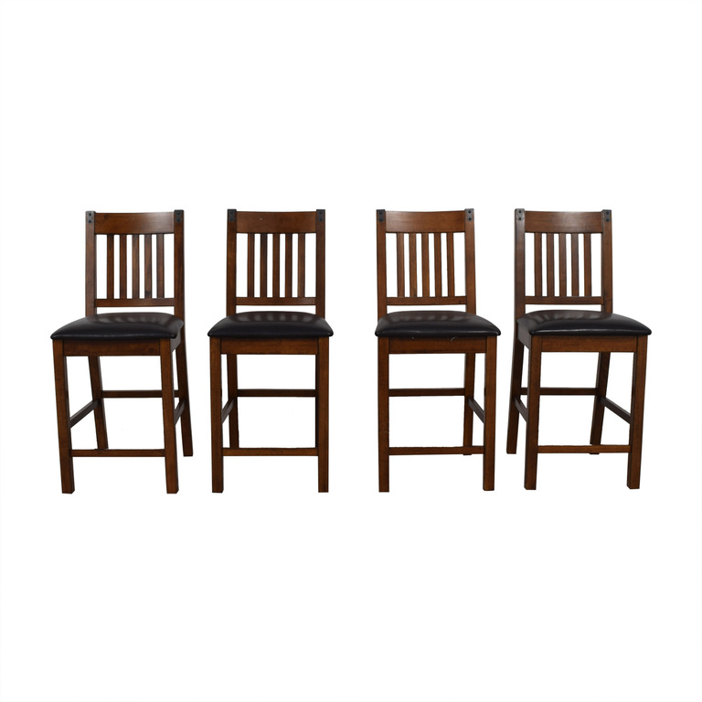 Wood and Black Dining Chairs discount