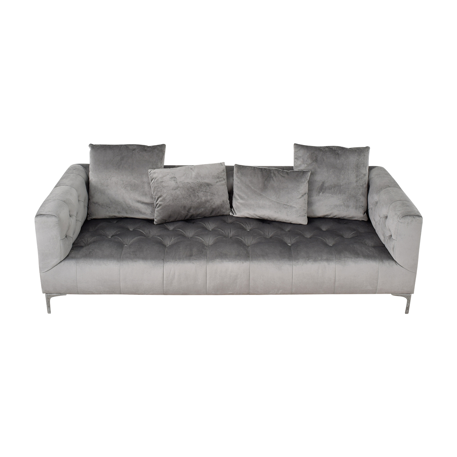 Ms. Chesterfield Grey Tufted Sofa / Sofas