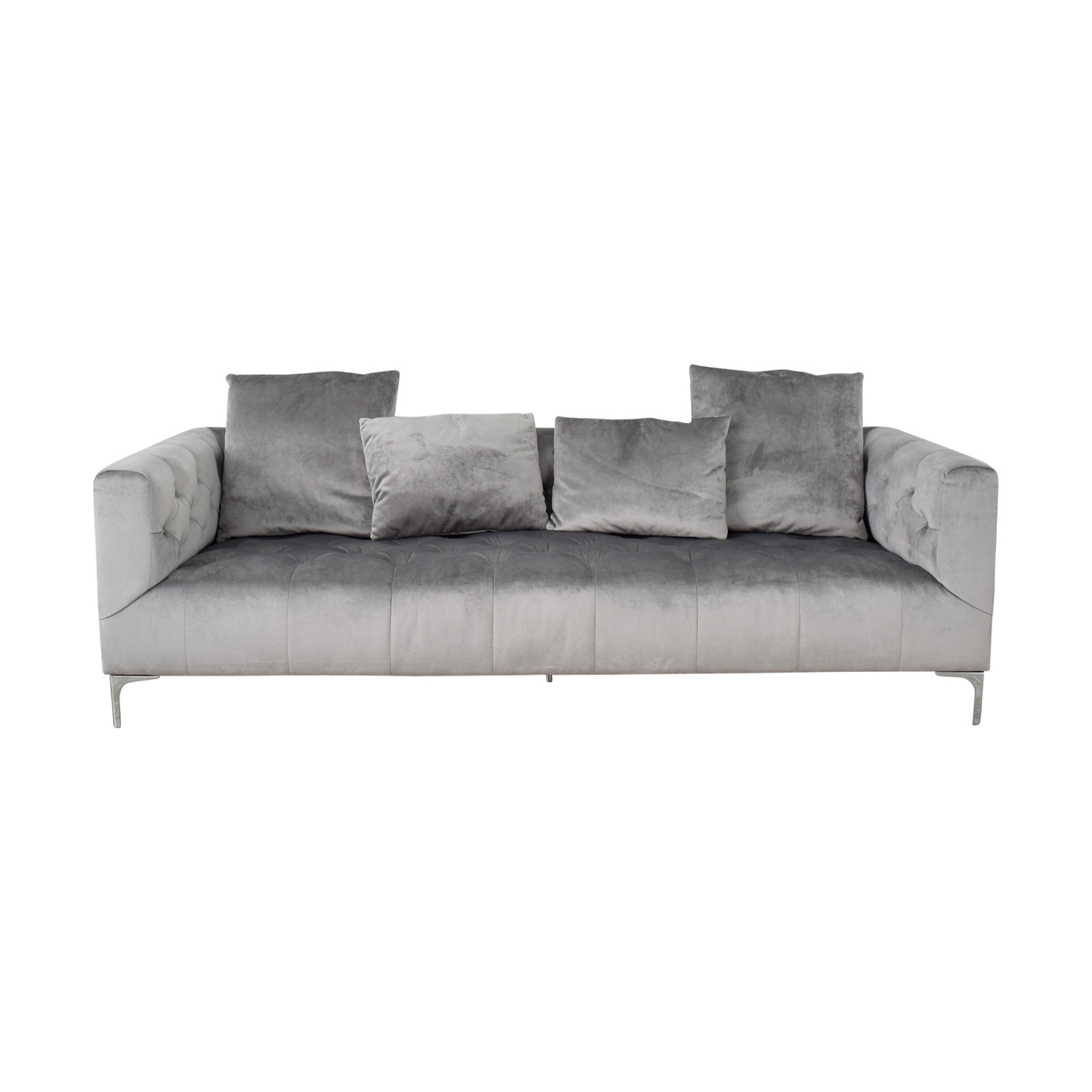 Ms. Chesterfield Grey Tufted Sofa sale