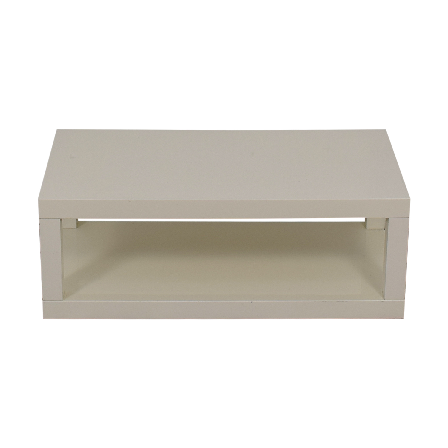 buy West Elm West Elm White Laquer Coffee Table online