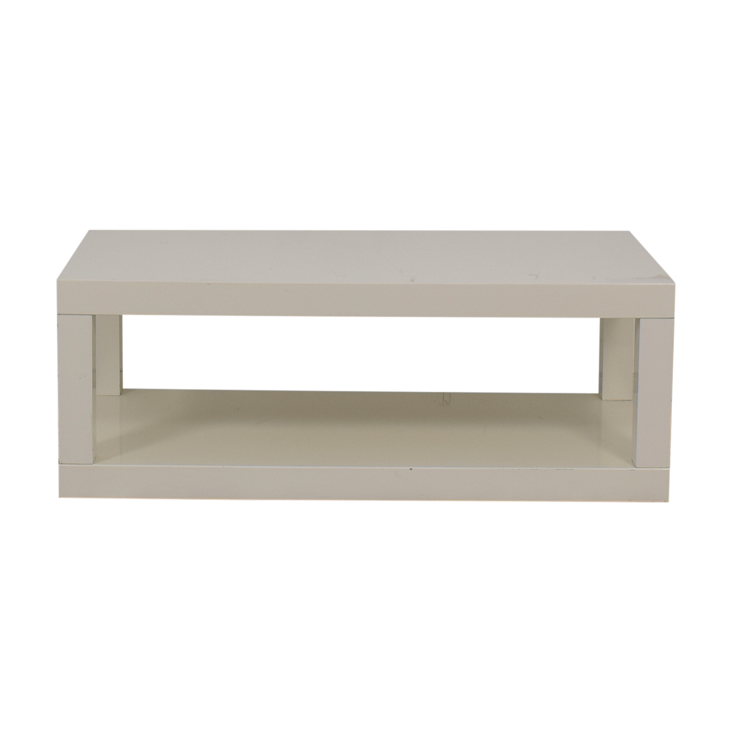 shop West Elm White Laquer Coffee Table West Elm