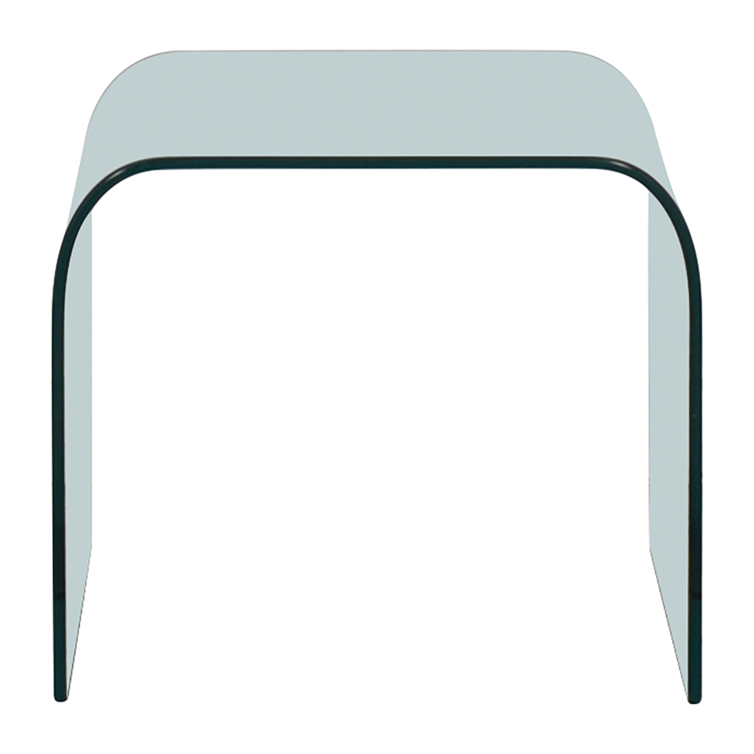Flam Italia Curved Glass Side Table / Tables