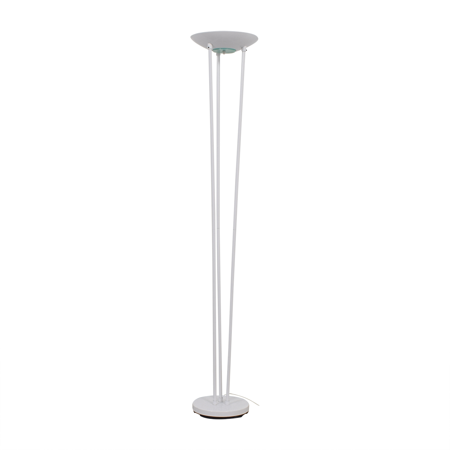 Torchiere Torchiere Classic White Halogen Floor Lamp for sale