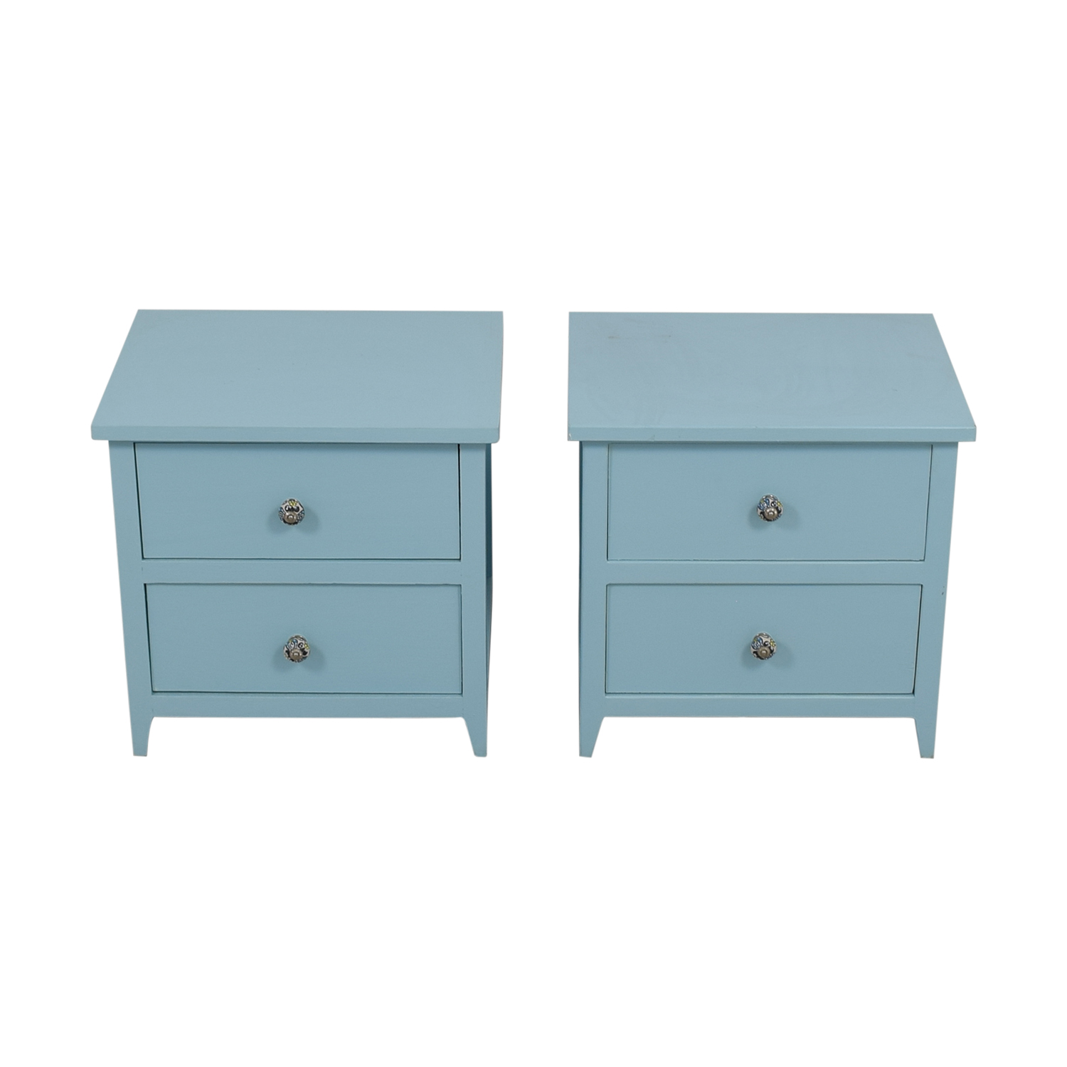 Gothic Cabinet Craft Gothic Cabinet Craft Light Blue Wood Two-Drawer Night Stands nyc