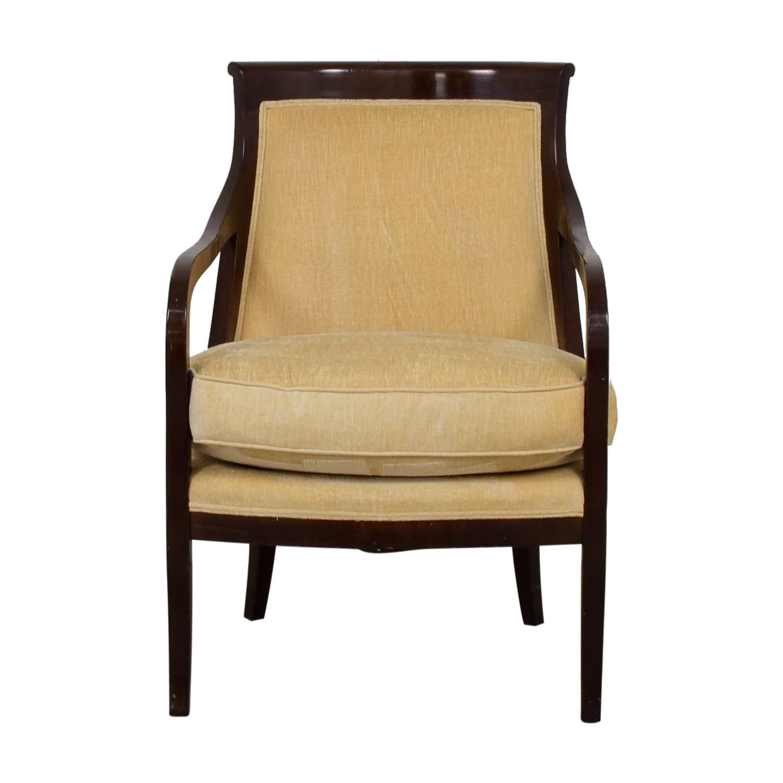 shop Mariette Himes Gomez Beige Arm Chair Mariette Himes Gomez