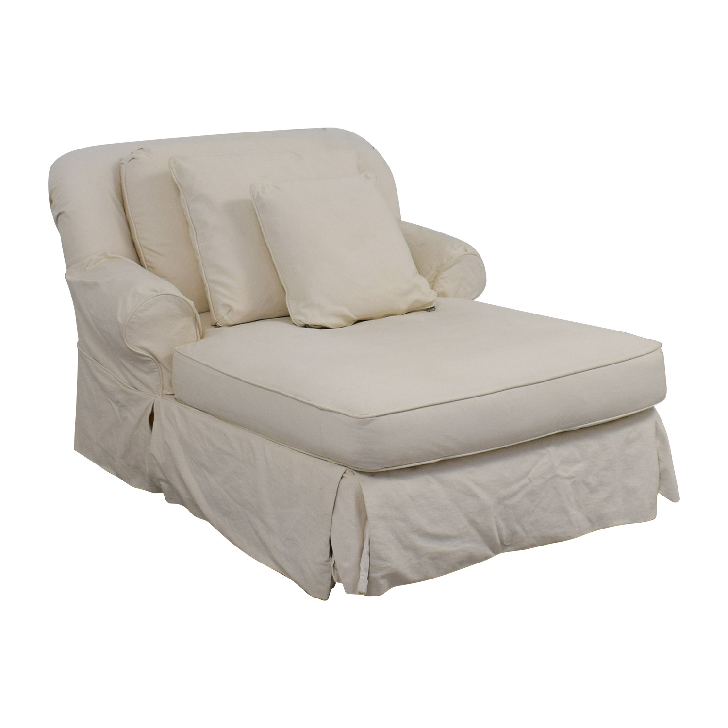 White Skirted Chaise white