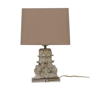 buy Carved Beige Table Lamp