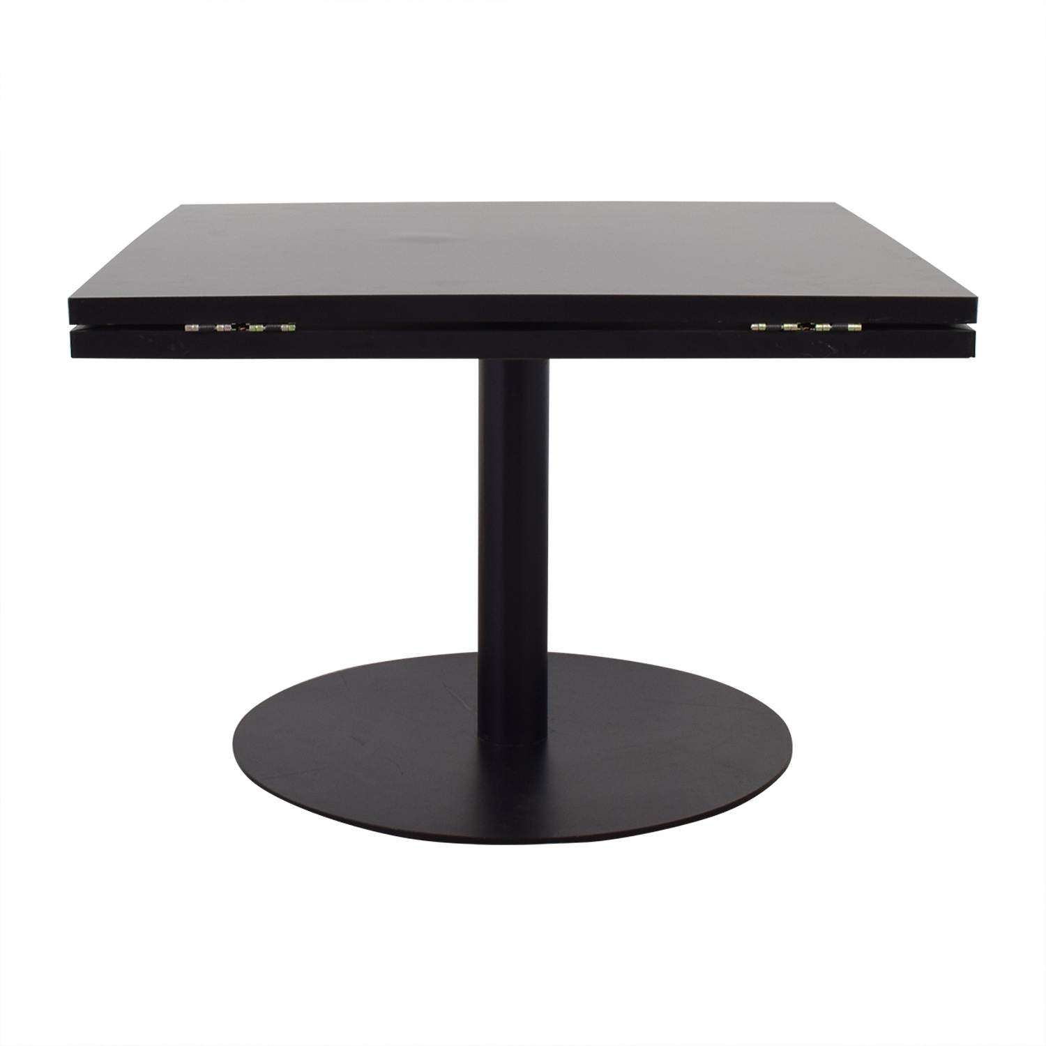 buy Black Square to Round Foldable Sides Table