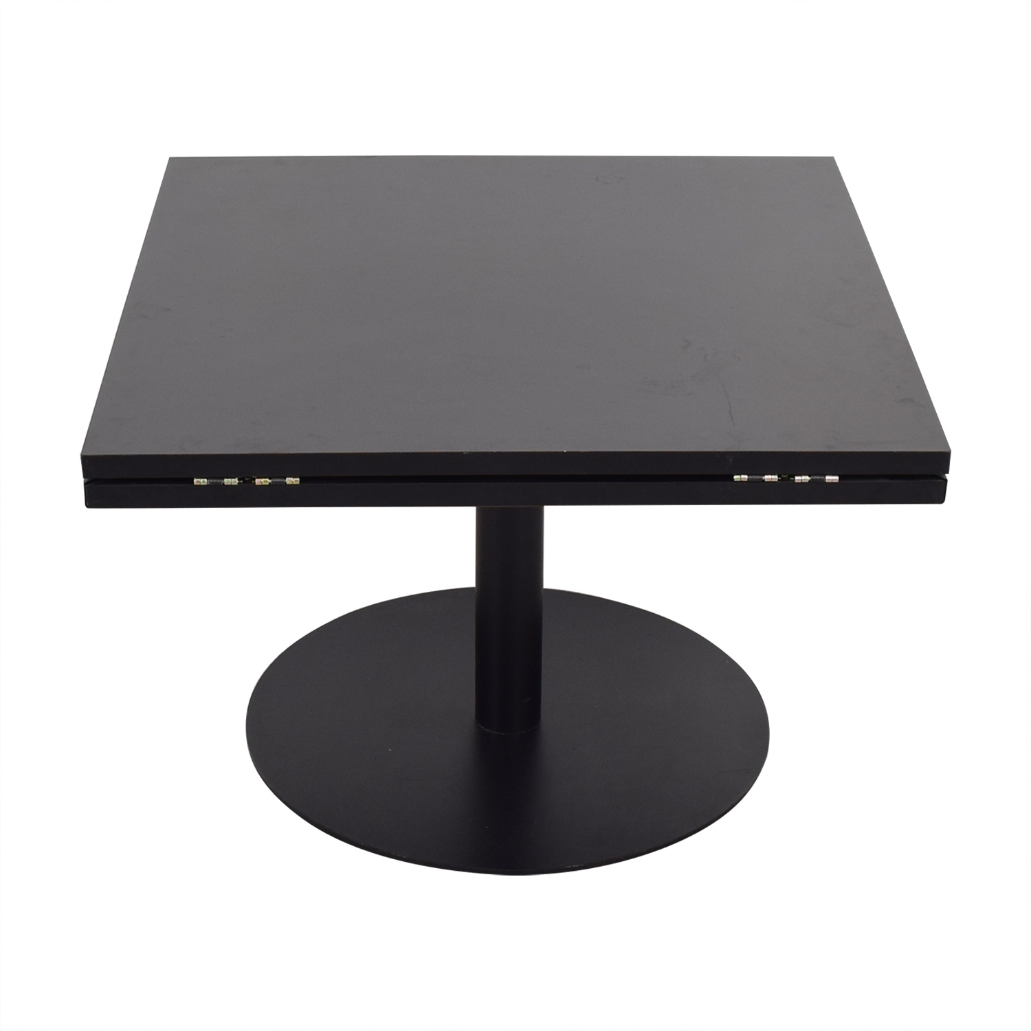Black Square to Round Foldable Sides Table nyc