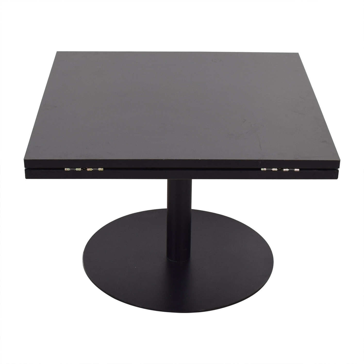 Black Square to Round Foldable Sides Table used