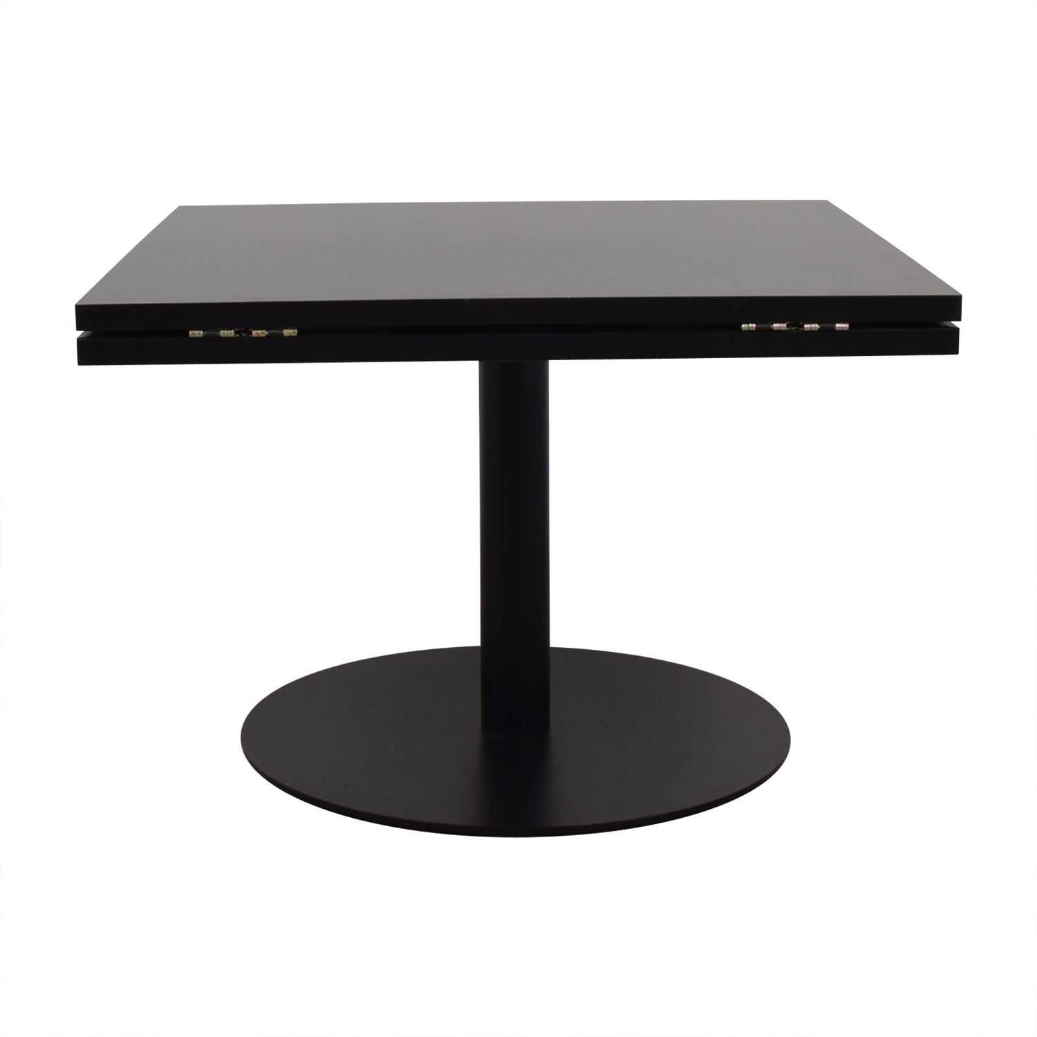 Black Square to Round Foldable Sides Table dimensions