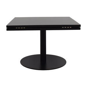 Black Square to Round Foldable Sides Table coupon