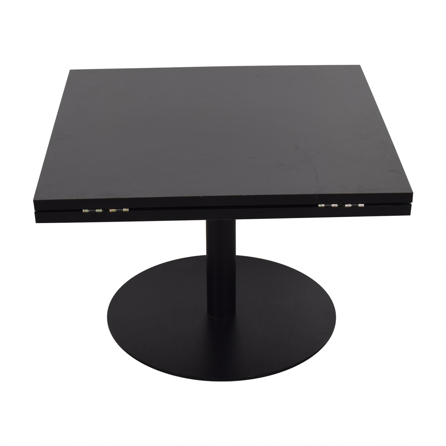 buy Black Square to Round Foldable Sides Table  Tables