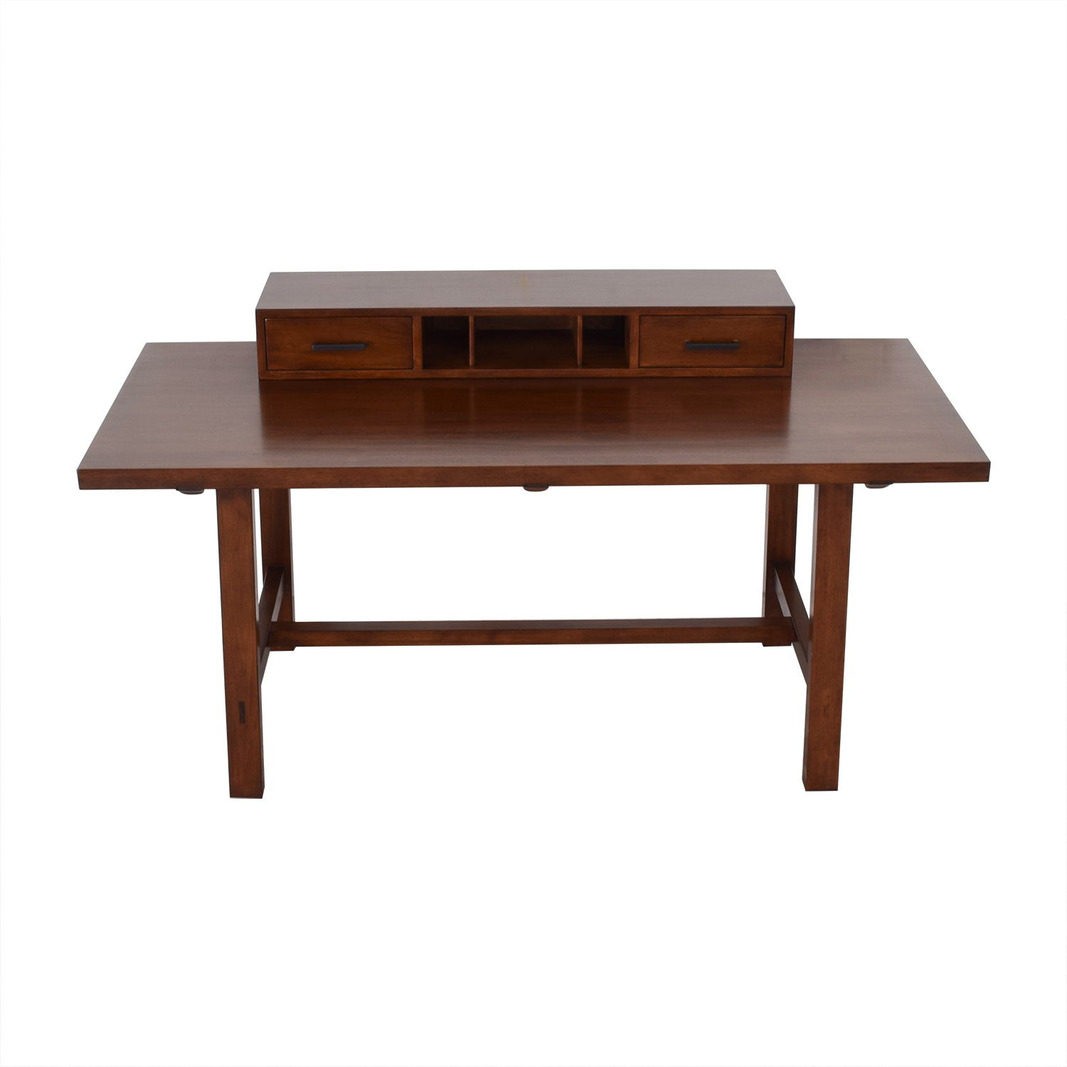 buy Modern Desk with Removable Drawer Topper