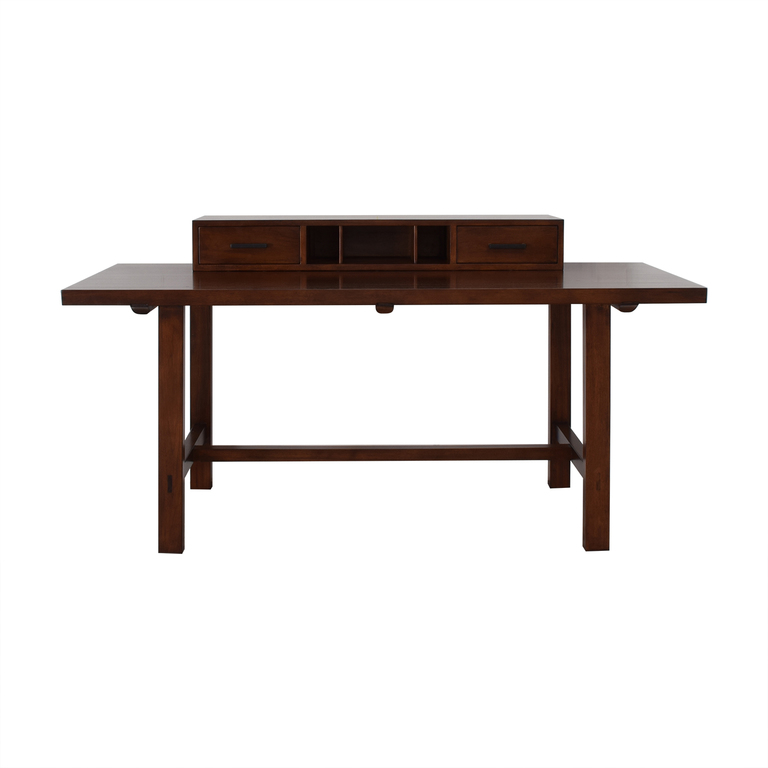 Modern Desk with Removable Drawer Topper