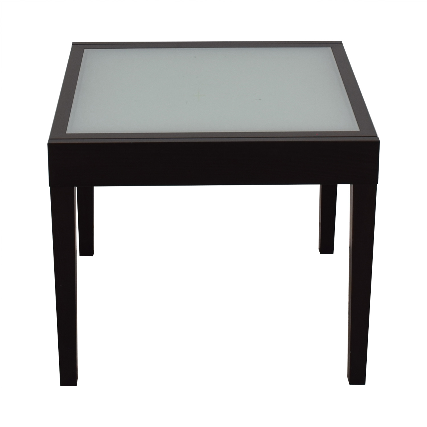 Design Within Reach Design Within Reach Black and Glass Extendable Leaf Table discount
