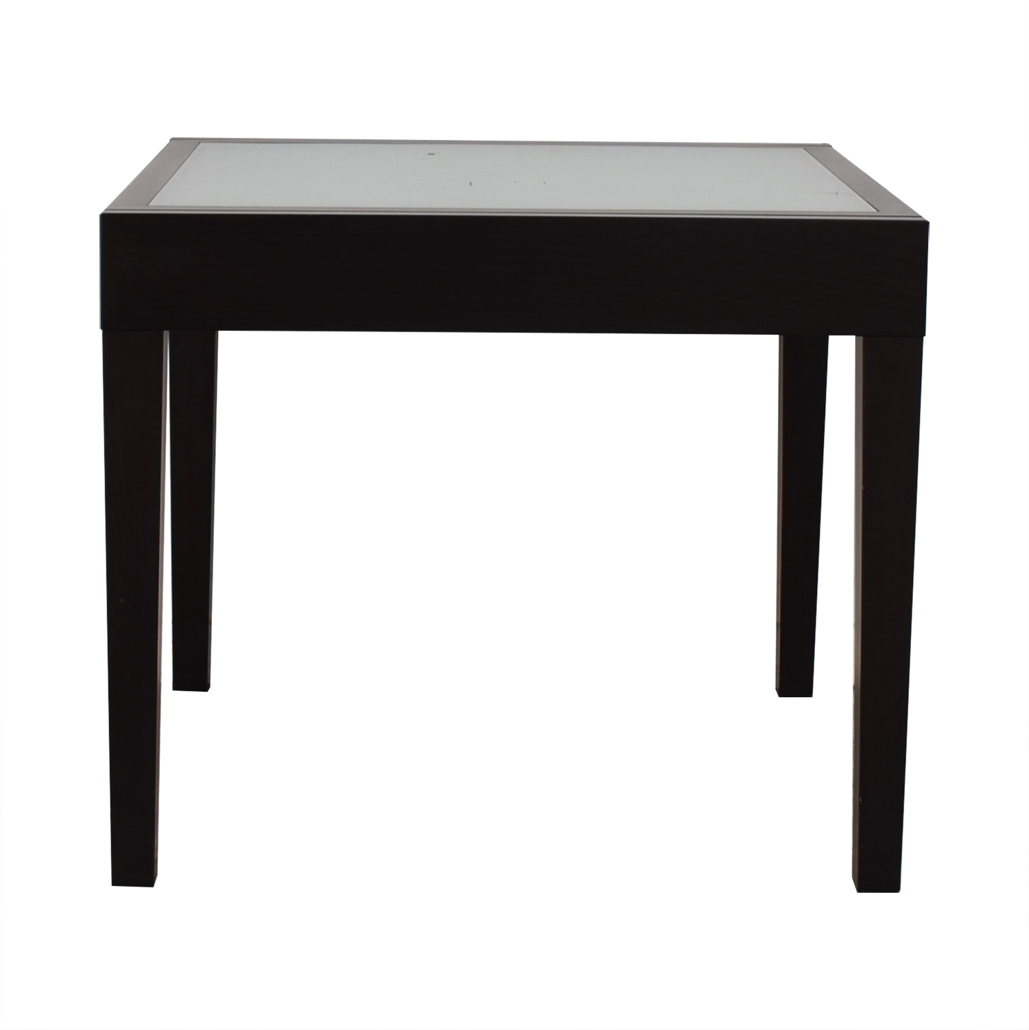 Design Within Reach Design Within Reach Black and Glass Extendable Leaf Table price