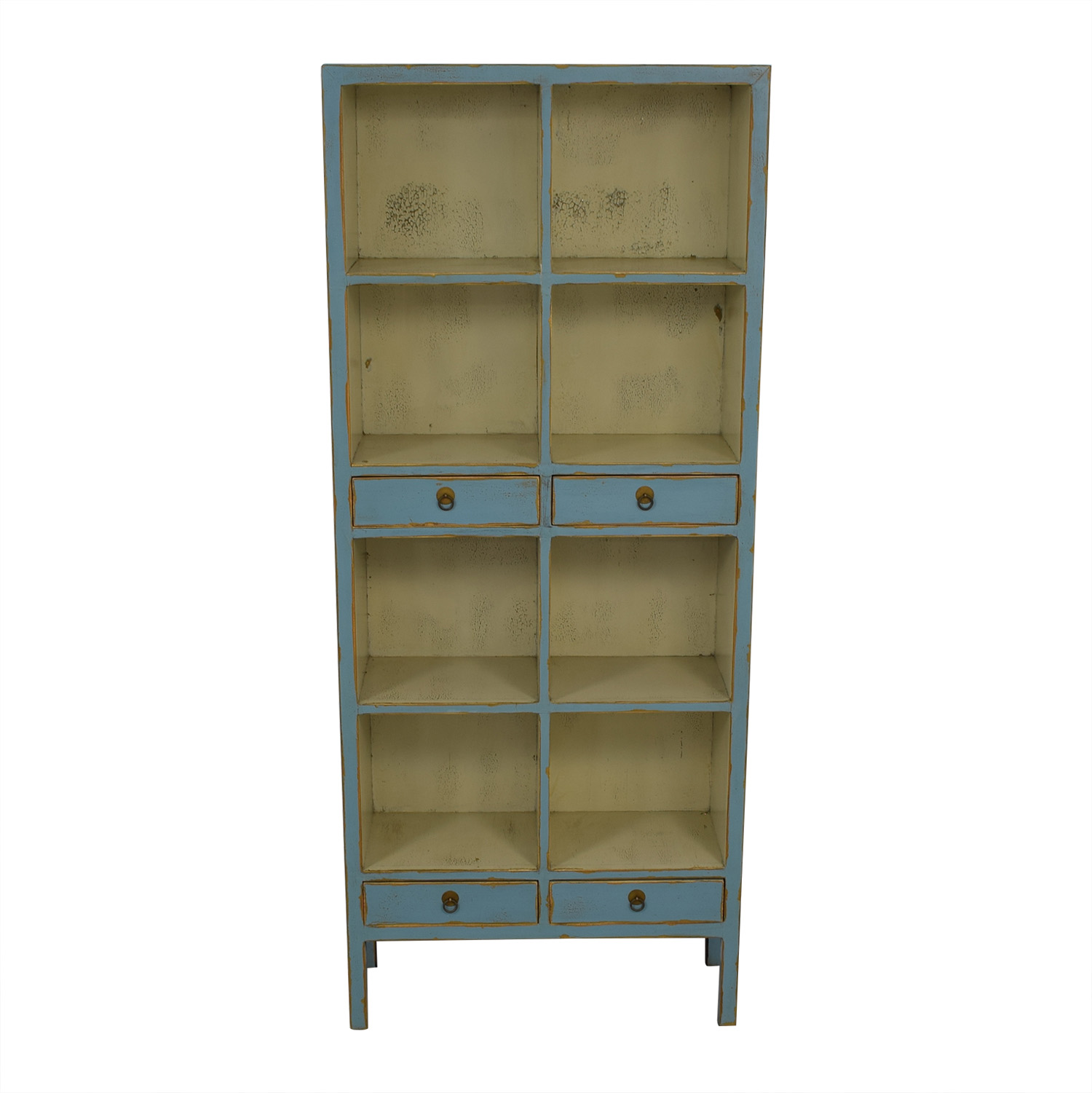 buy One Kings Lane Safavieh Light Blue Distressed Bookcase One Kings Lane