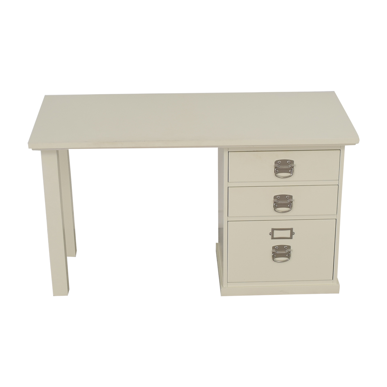 shop Pottery Barn Pottery Barn Bedford White Three-Drawer Desk online