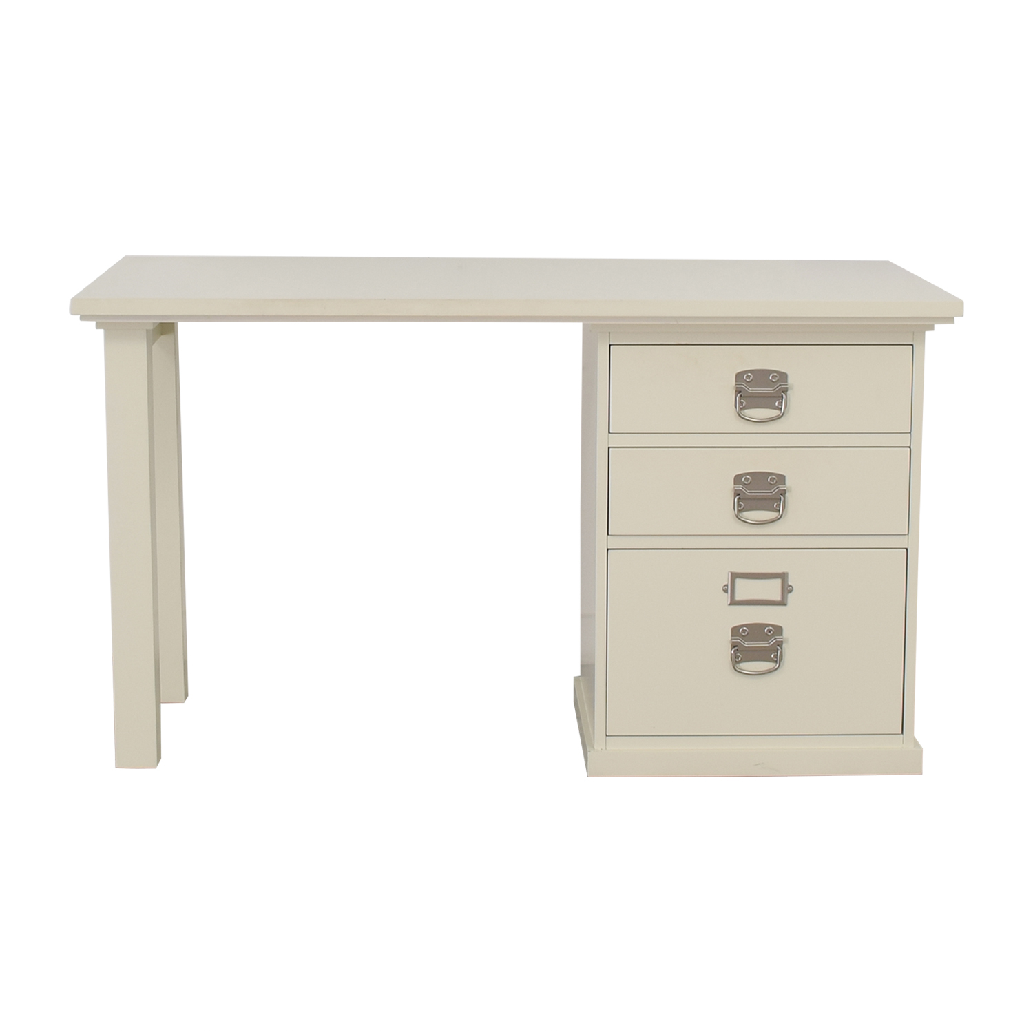 Pottery Barn Pottery Barn Bedford White Three-Drawer Desk Tables