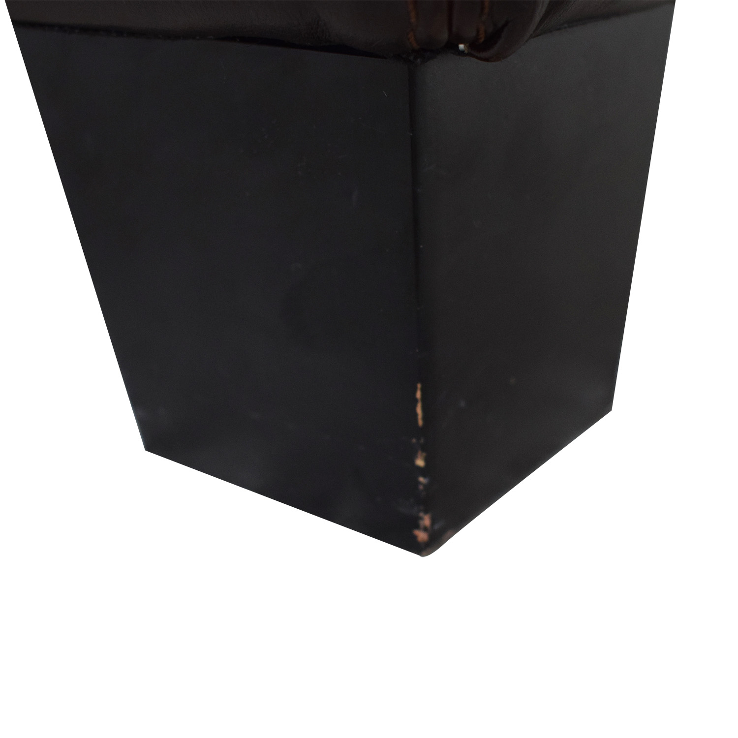 Chateau D'Ax Chateau D'Ax Brown Leather Cocktail Ottoman used