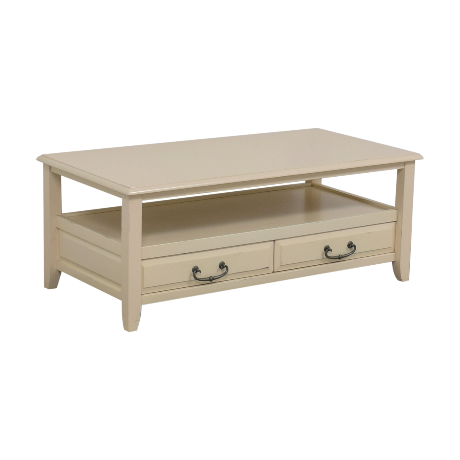 70 off pier 1 imports pier 1 imports white two drawer coffee table tables. Black Bedroom Furniture Sets. Home Design Ideas