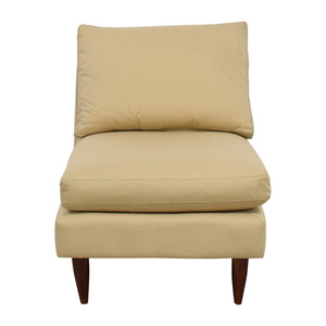 Room & Board Room & Board Beige Slipper Chair dimensions