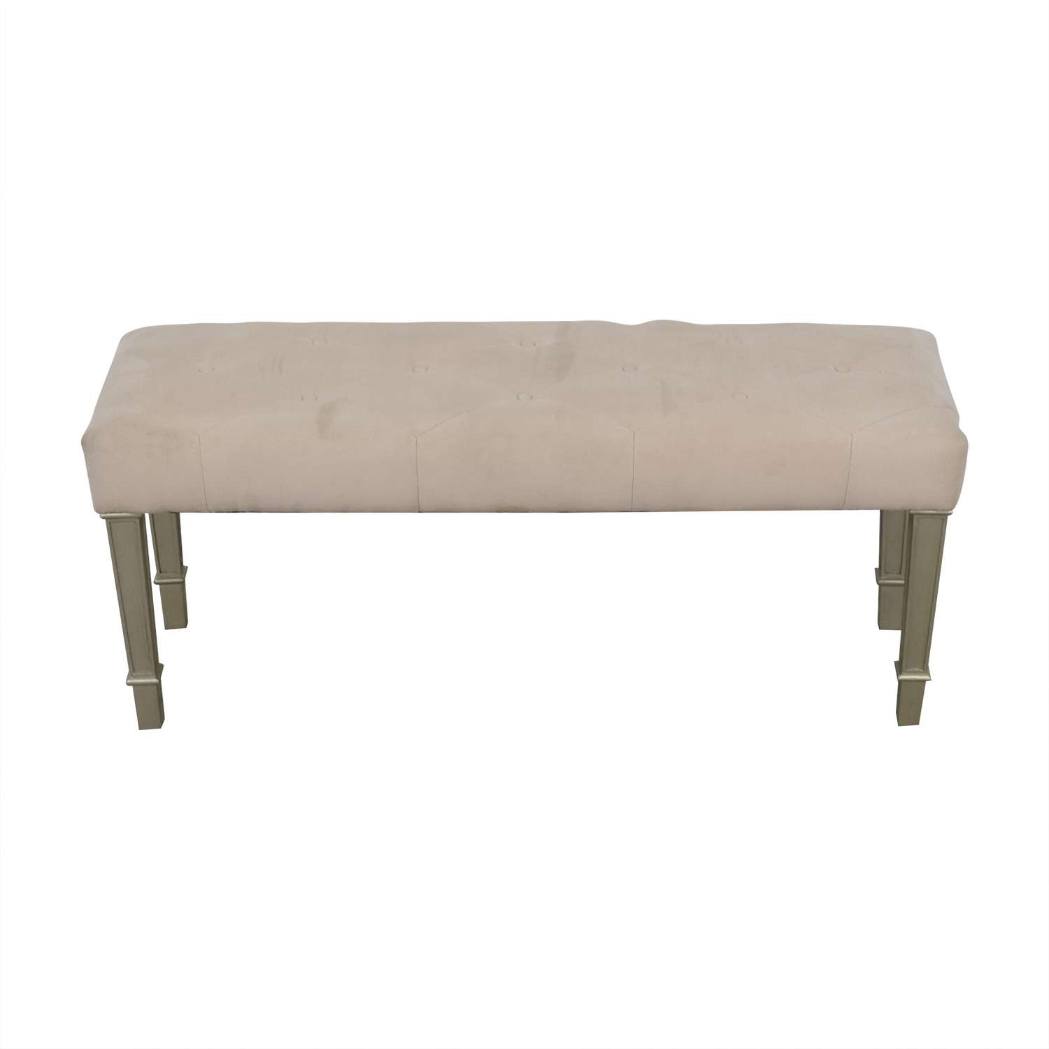 buy Pier One Hayworth Ivory Silver Bench Pier One