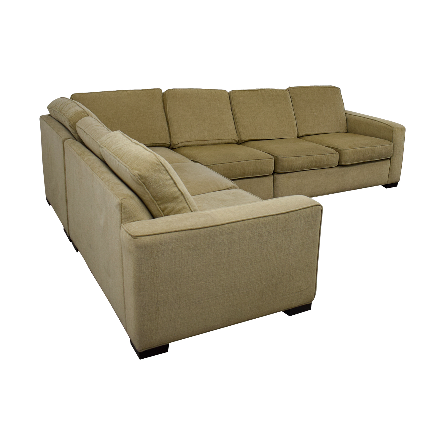 87% OFF - Ethan Allen Ethan Allen Tan Sectional Couch / Sofas
