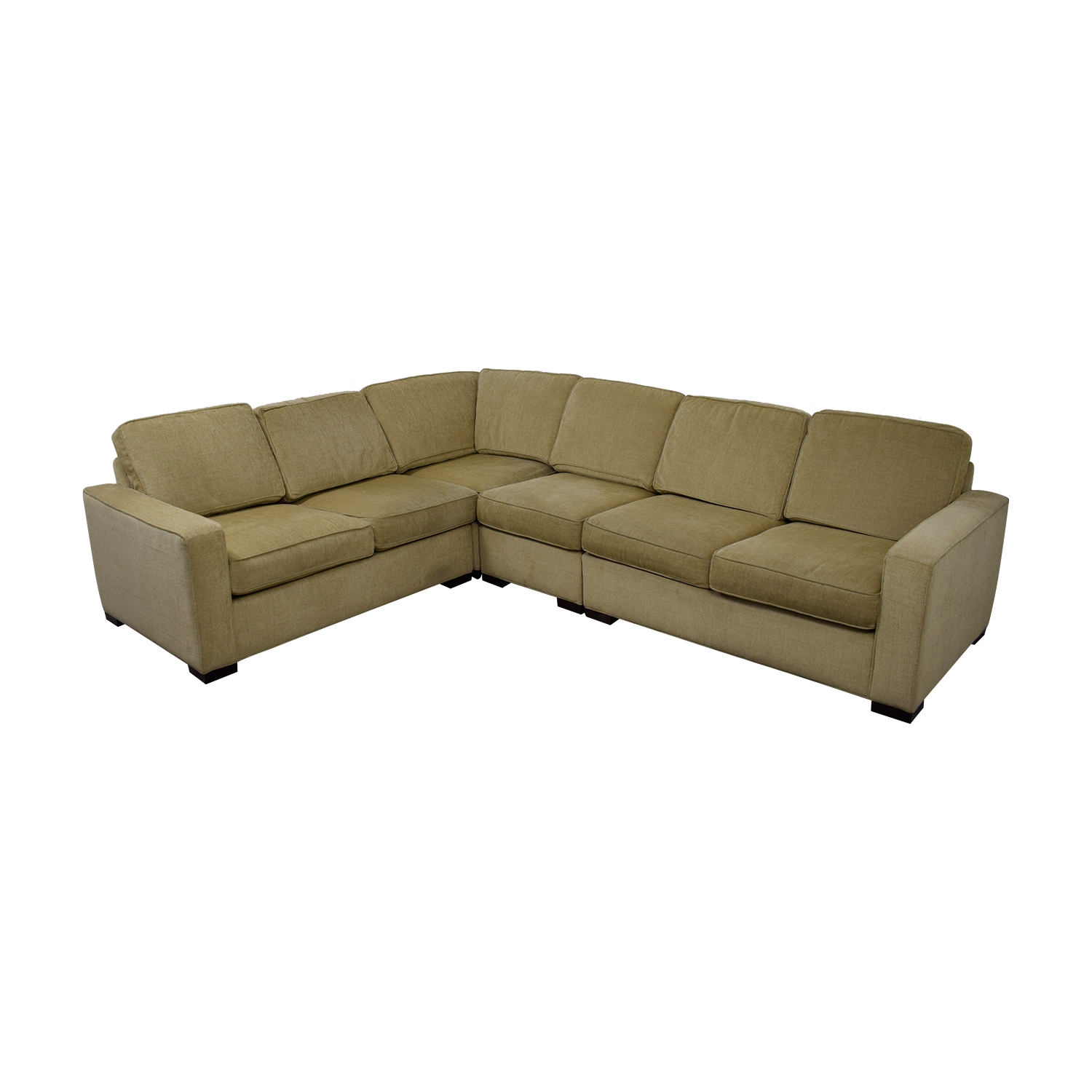 Ethan Allen Tan Sectional Couch Used