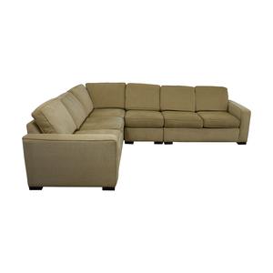 shop Ethan Allen Tan Sectional Couch Ethan Allen
