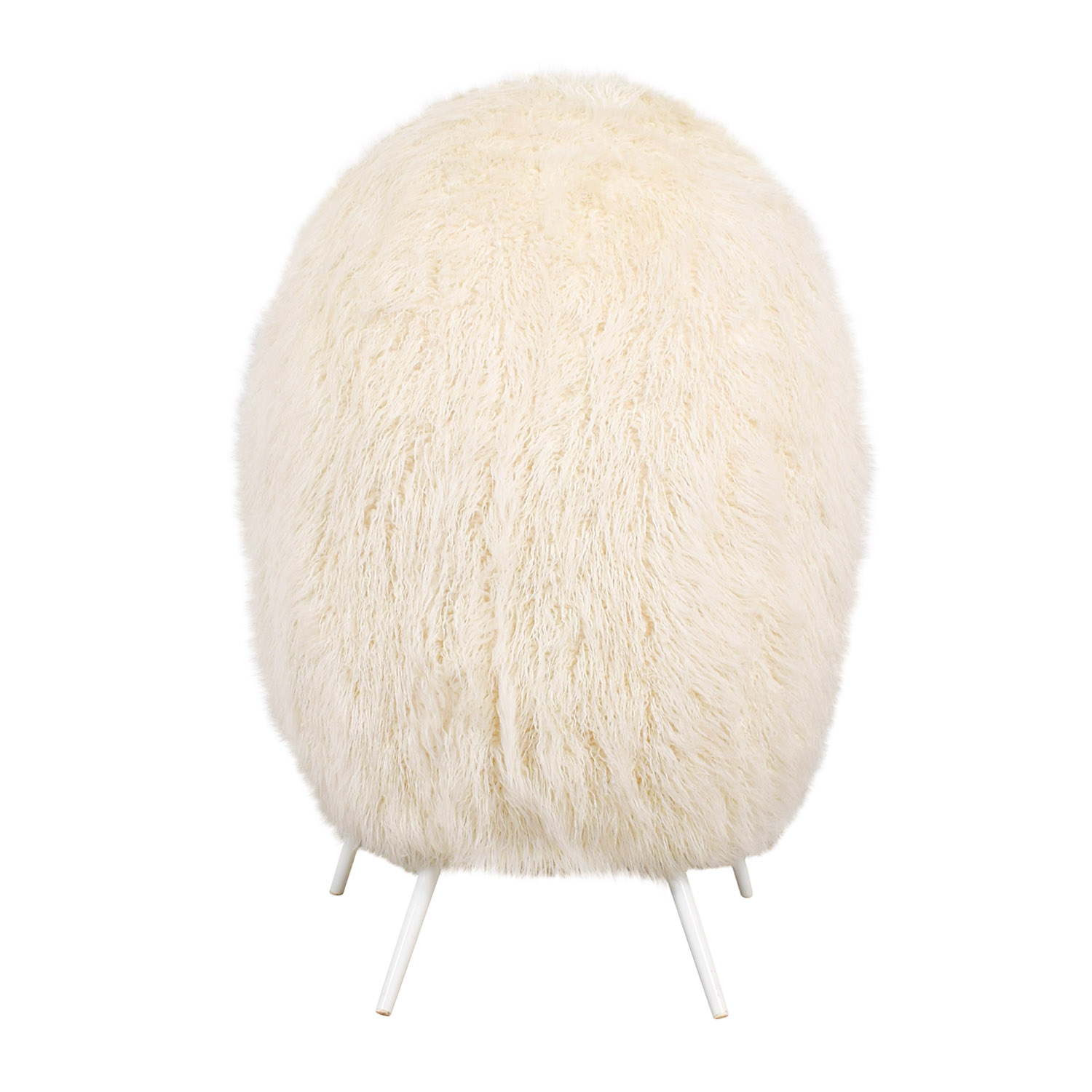 PB Teen PB Teen Ivory Furlicious Faux-Fur Cave Chair for sale