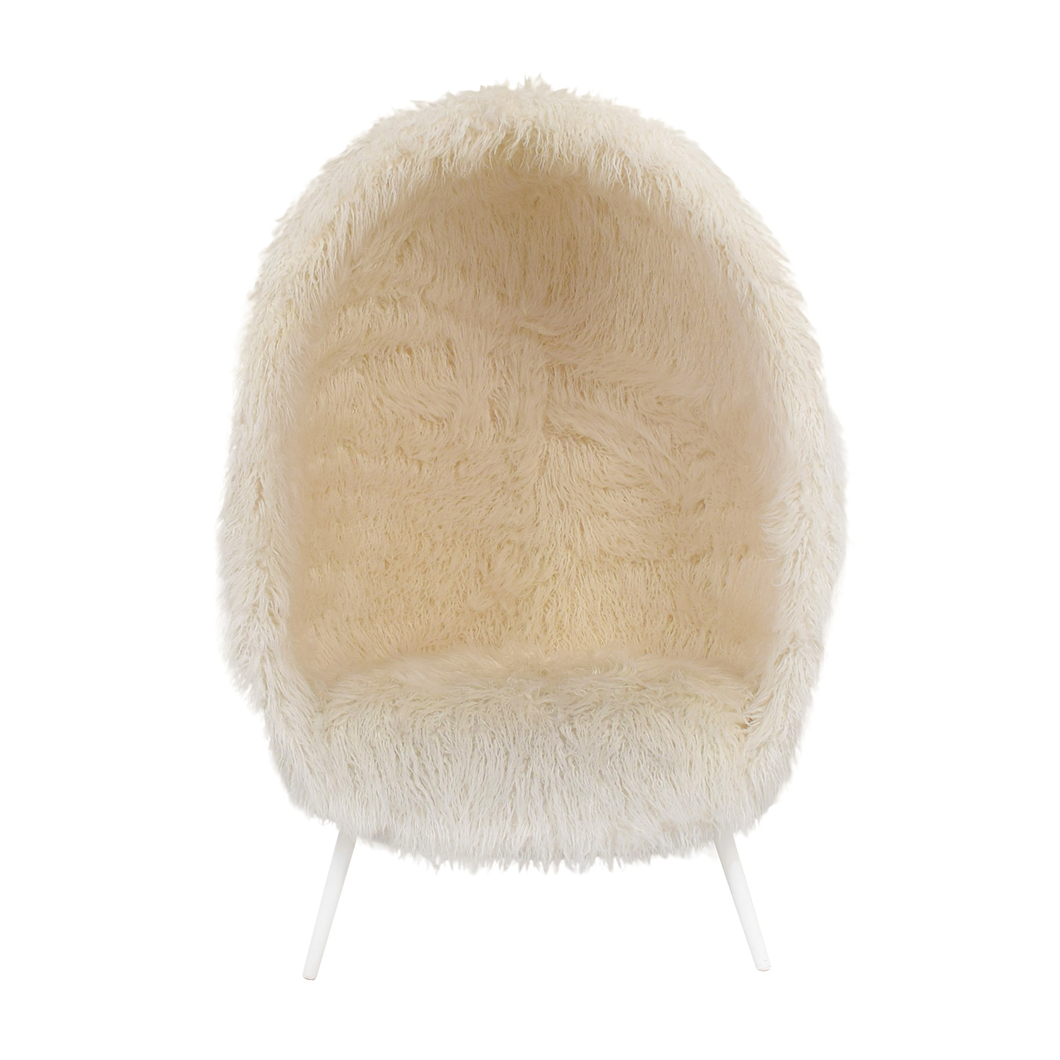 Pleasing 73 Off Pbteen Pb Teen Ivory Furlicious Faux Fur Cave Chair Chairs Creativecarmelina Interior Chair Design Creativecarmelinacom