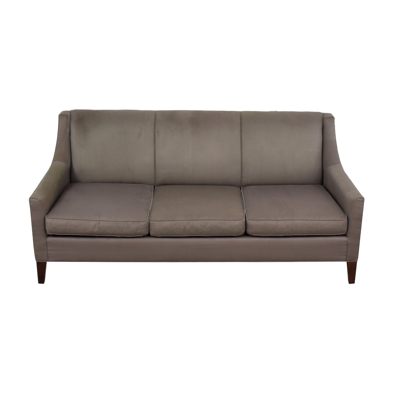 Mitchell Gold & Bob Williams Mitchell Gold & Bob Williams Cara Grey Three-Cushion Sofa dimensions