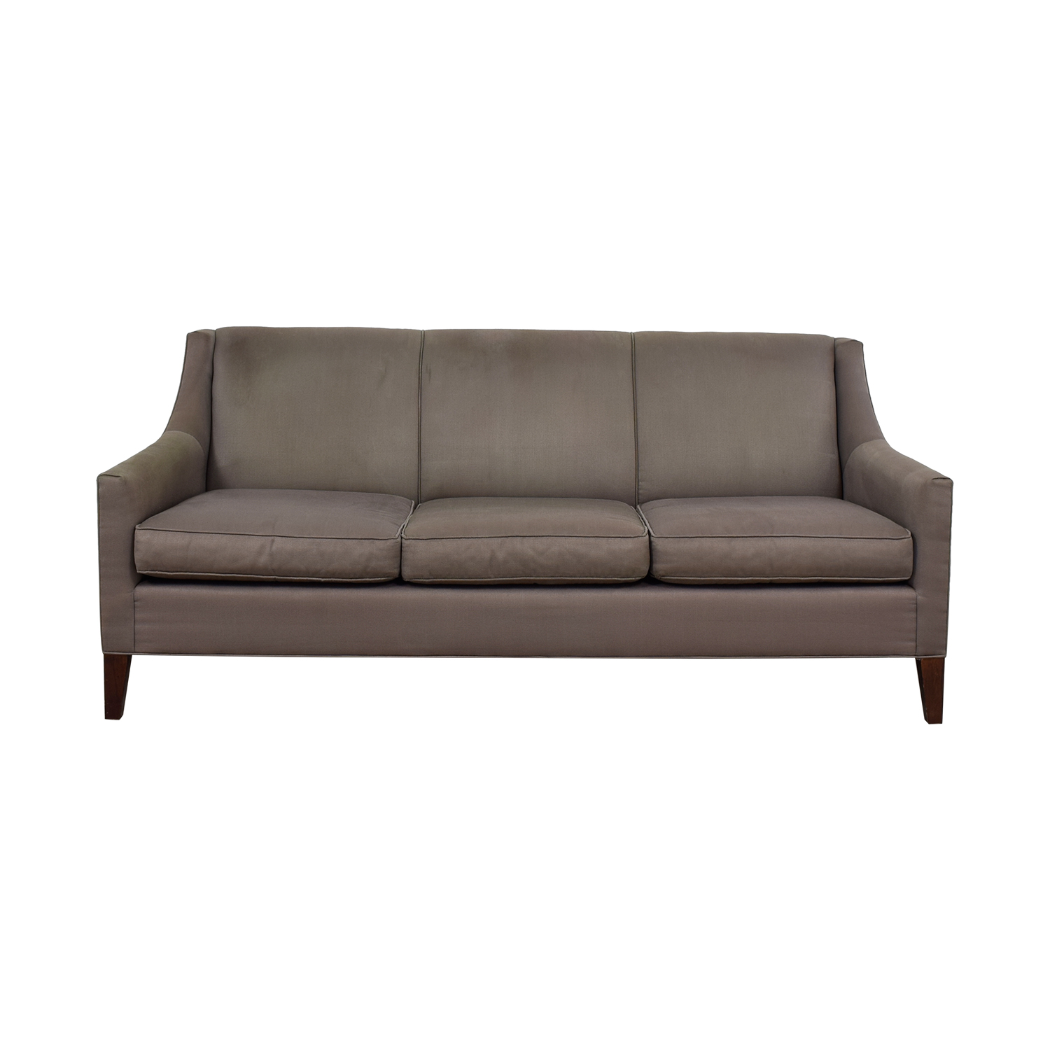 Mitchell Gold & Bob Williams Mitchell Gold & Bob Williams Cara Grey Three-Cushion Sofa