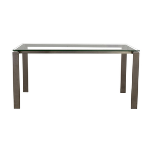 Room & Board Rand Stainless Steel and Glass Dining Table Room & Board