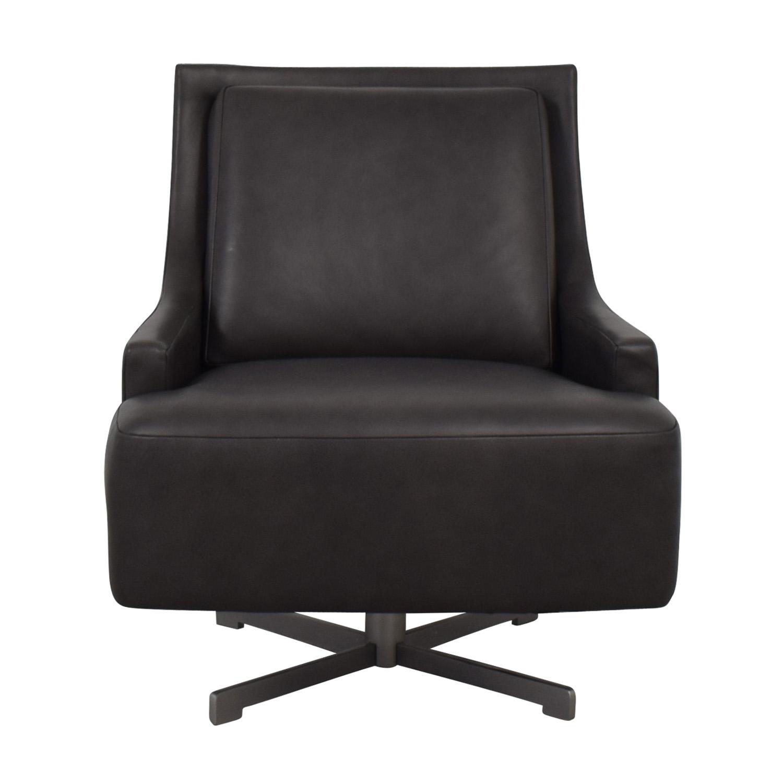 HBF Dark Grey Swivel Lounge Chair / Chairs