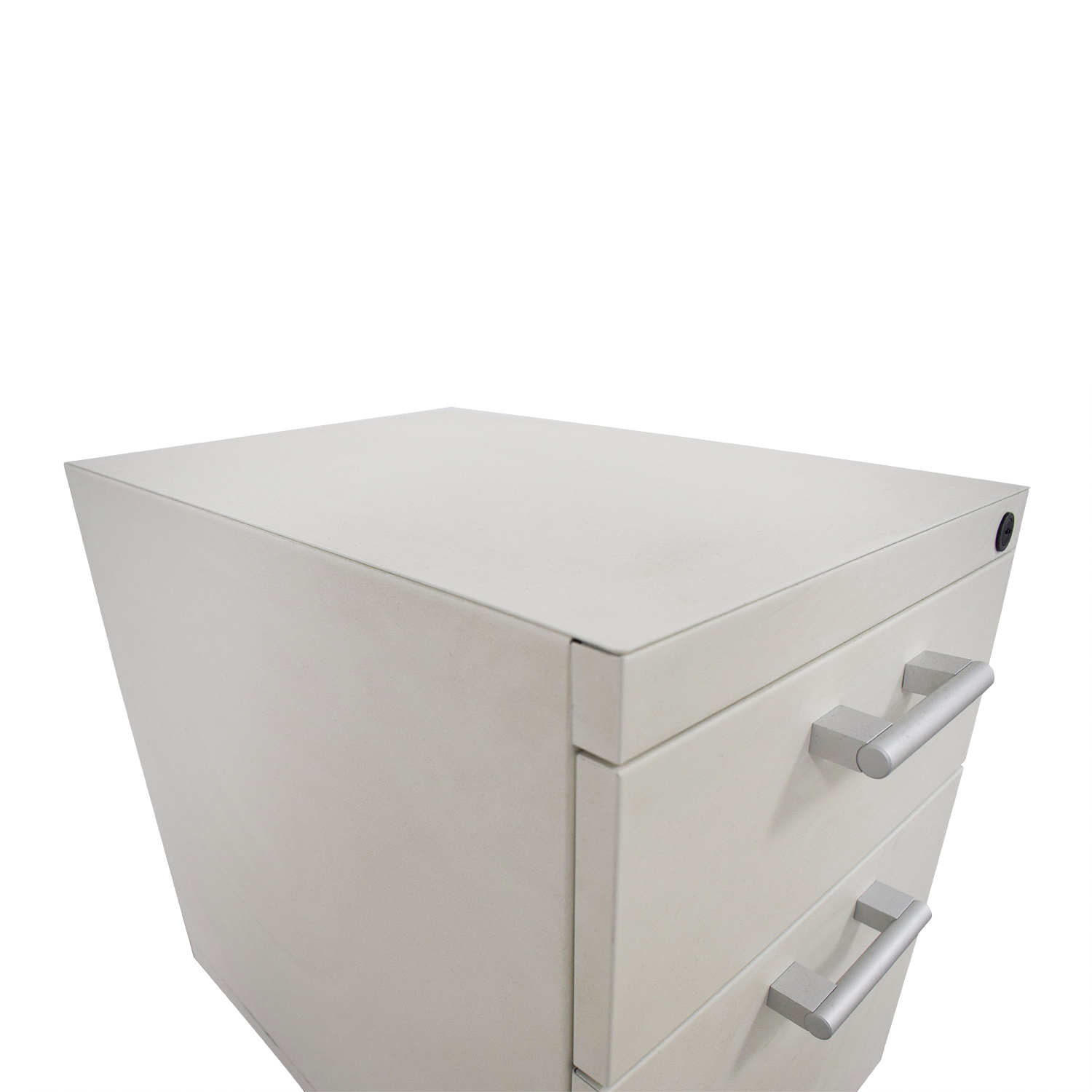 White Two-Drawer Filing Cabinet nyc