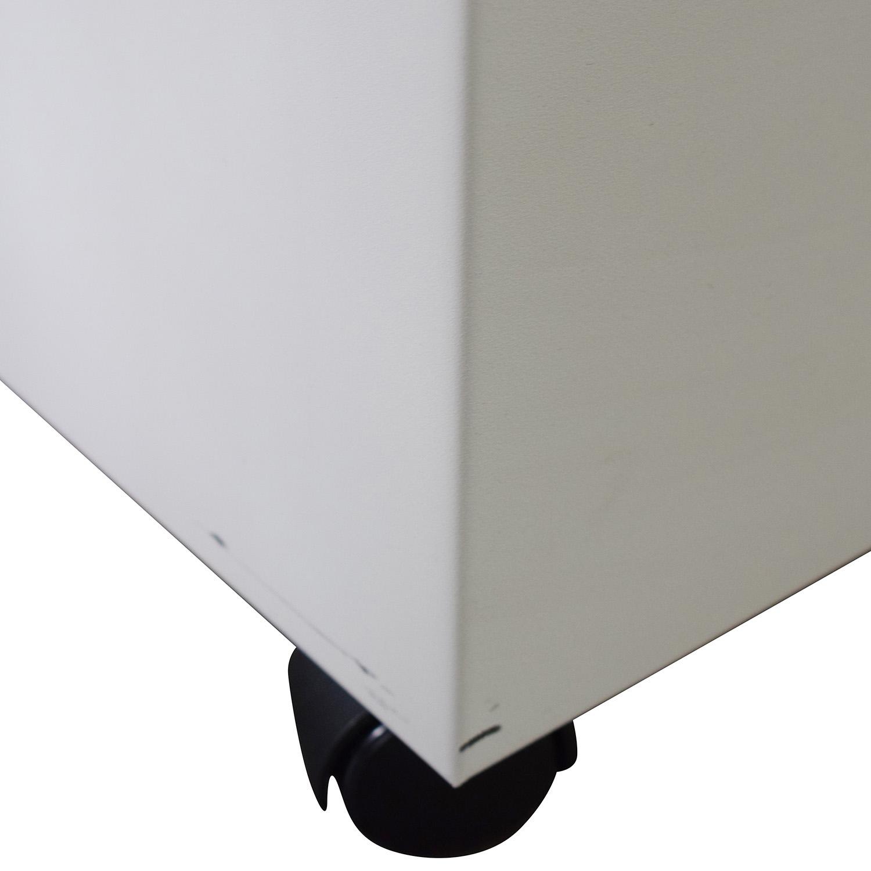 White Two-Drawer Filing Cabinet / Storage