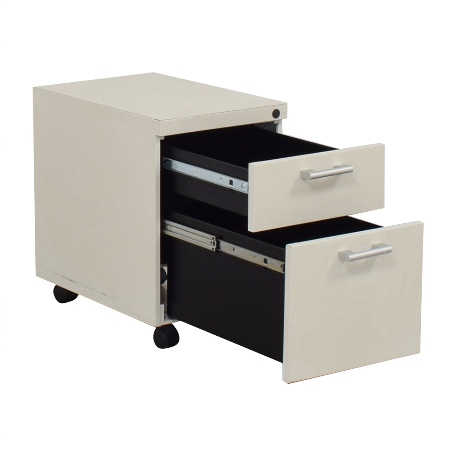White Two-Drawer Filing Cabinet second hand
