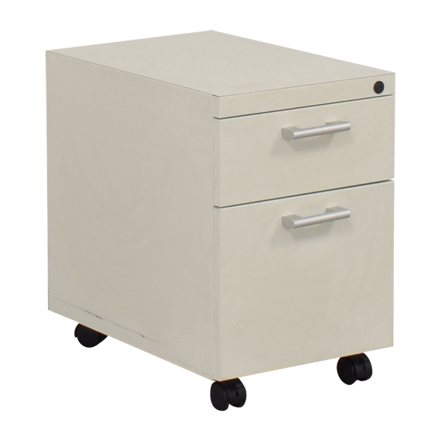 White Two-Drawer Filing Cabinet dimensions
