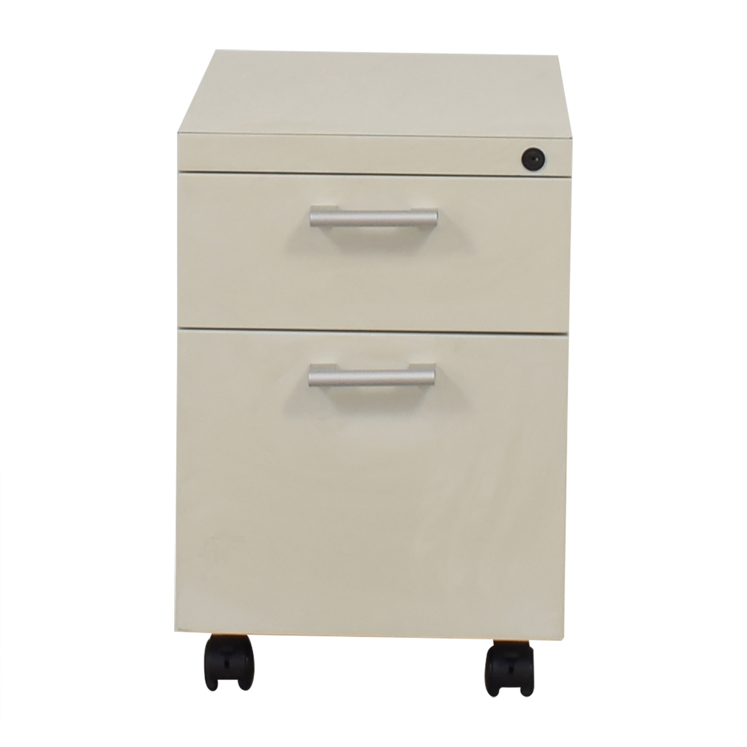 White Two-Drawer Filing Cabinet Storage
