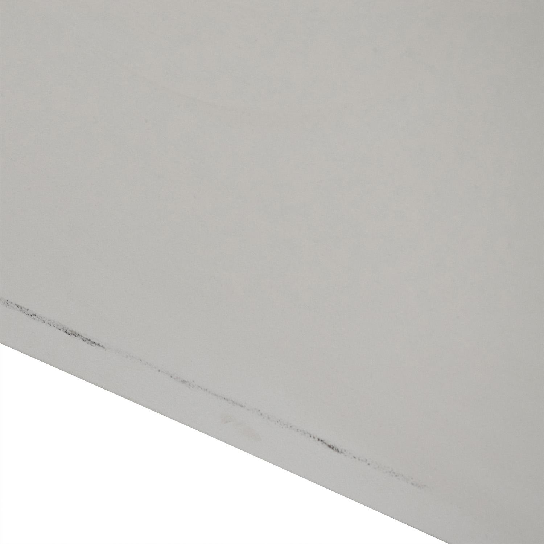 White Two-Drawer Filing Cabinet Filing & Bins