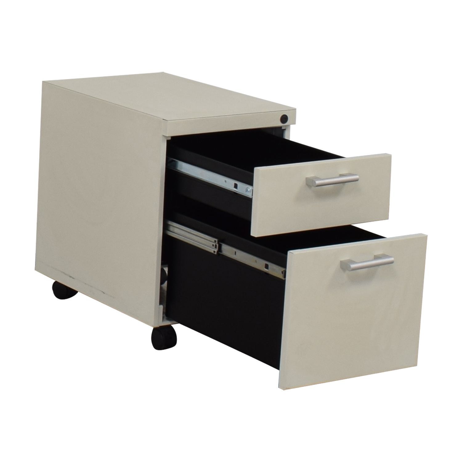 White Two-Drawer Filing Cabinet used