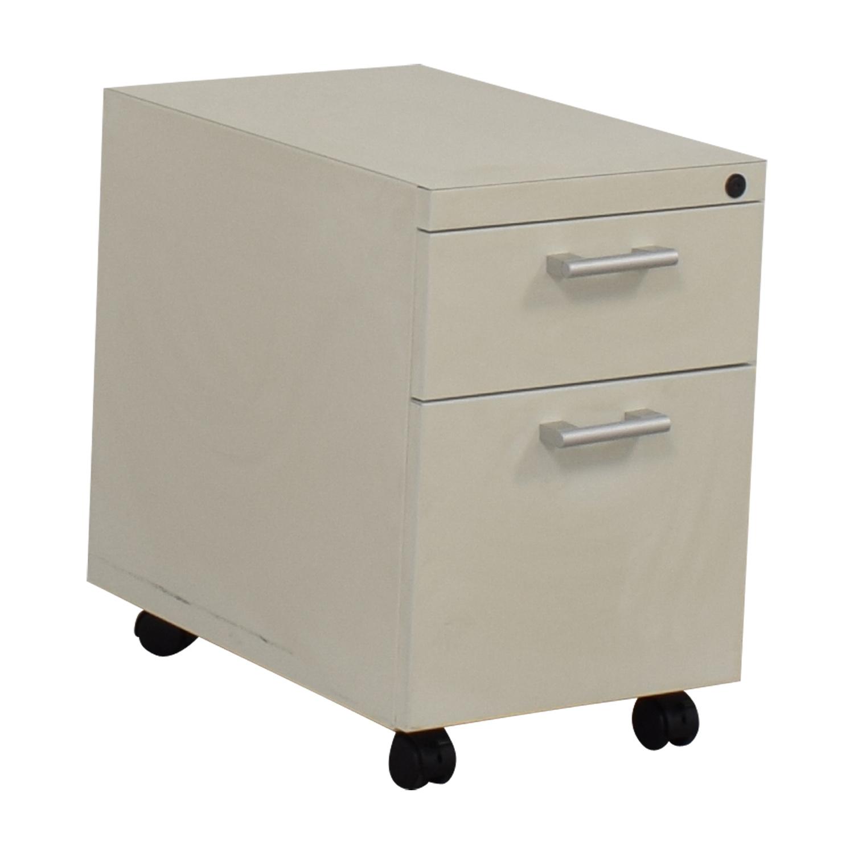 White Two-Drawer Filing Cabinet price