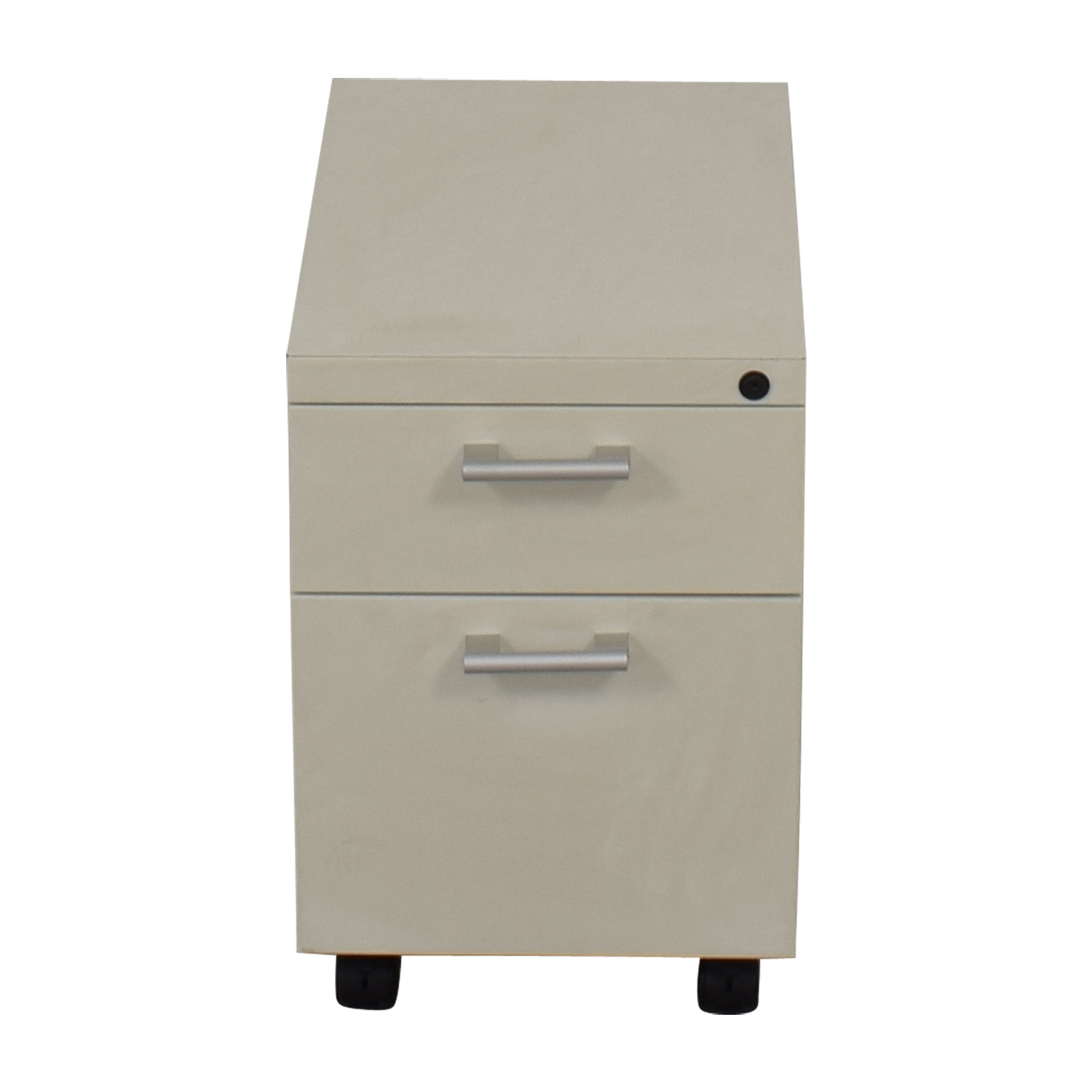 White Two-Drawer Filing Cabinet sale